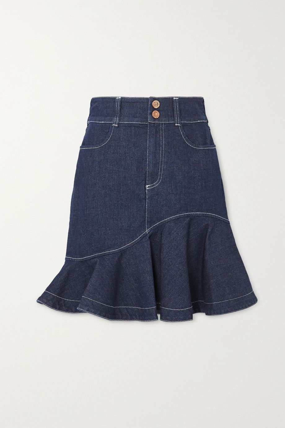 See By Chloé Ruffled denim skirt