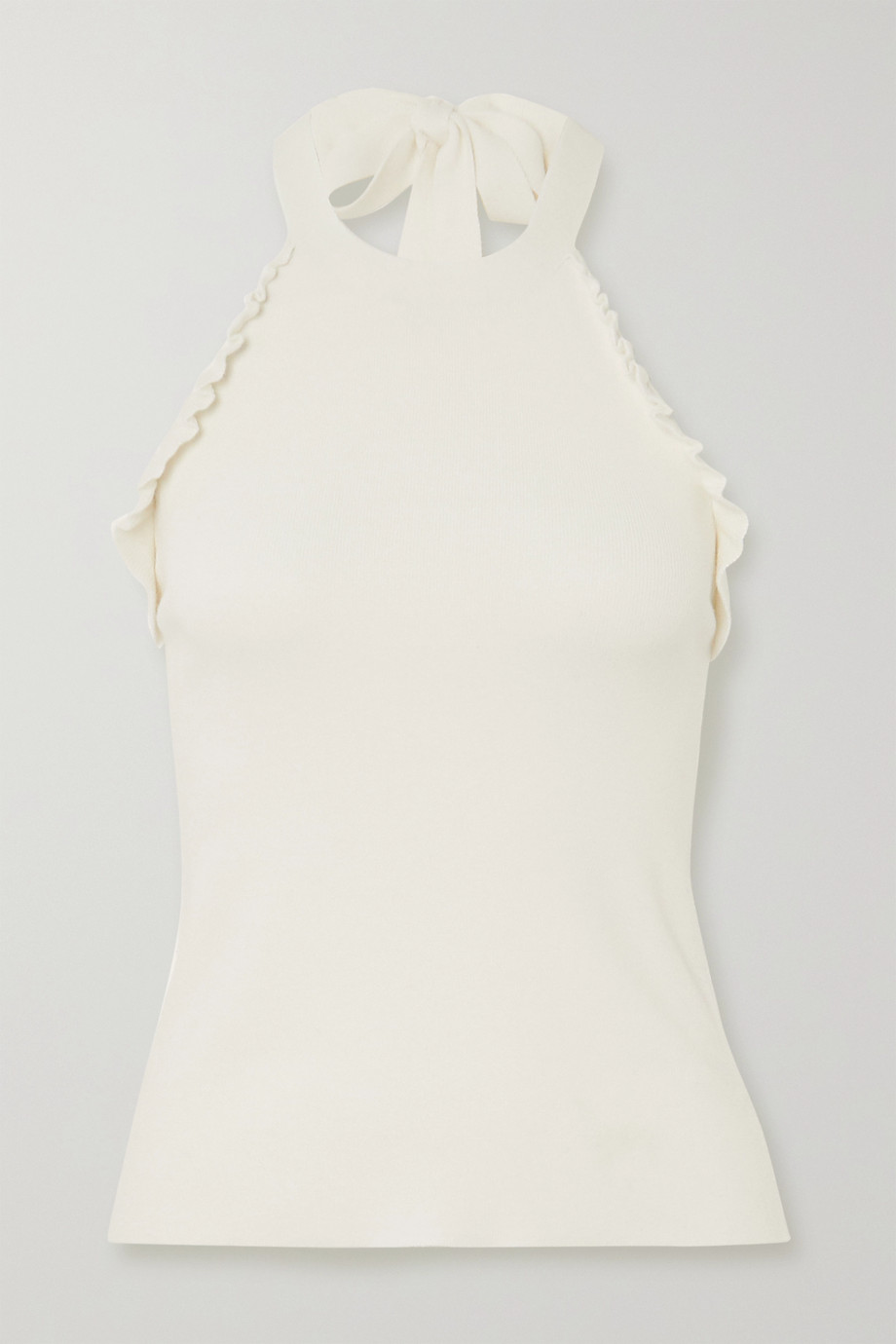 See By Chloé Ruffled knitted halterneck top