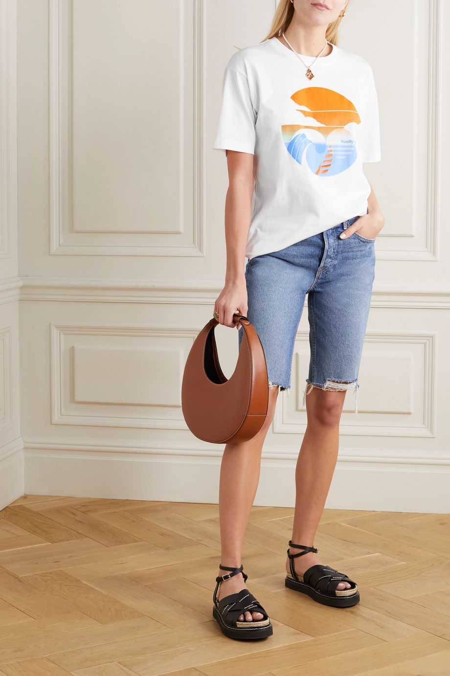 See By Chloé Summer Wave cotton-jersey T-shirt