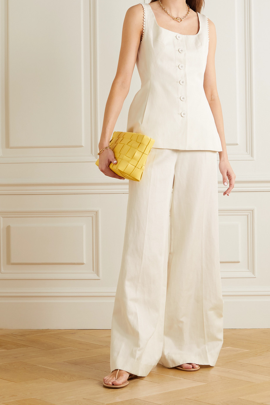 Saloni Walli cotton-blend twill wide-leg pants