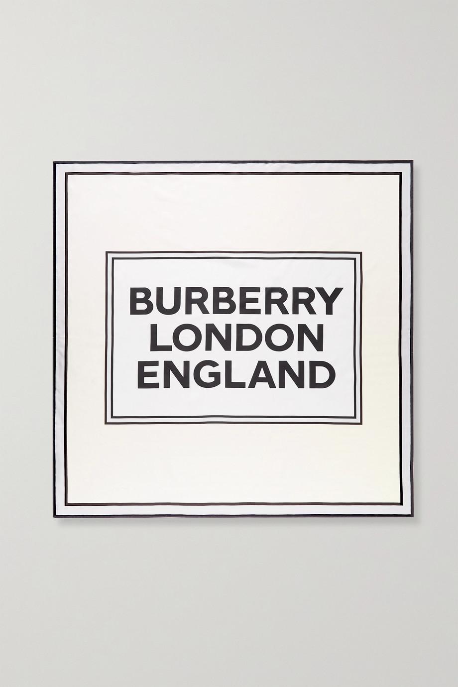 Burberry Bedrucktes Tuch aus Seiden-Twill