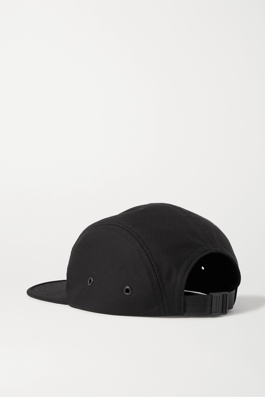 Burberry Appliquéd cotton-twill cap