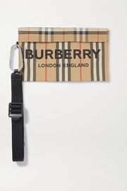 Burberry Printed gabardine pouch
