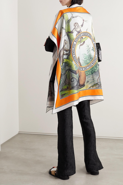 Beige Printed Silk-twill Cape | Burberry