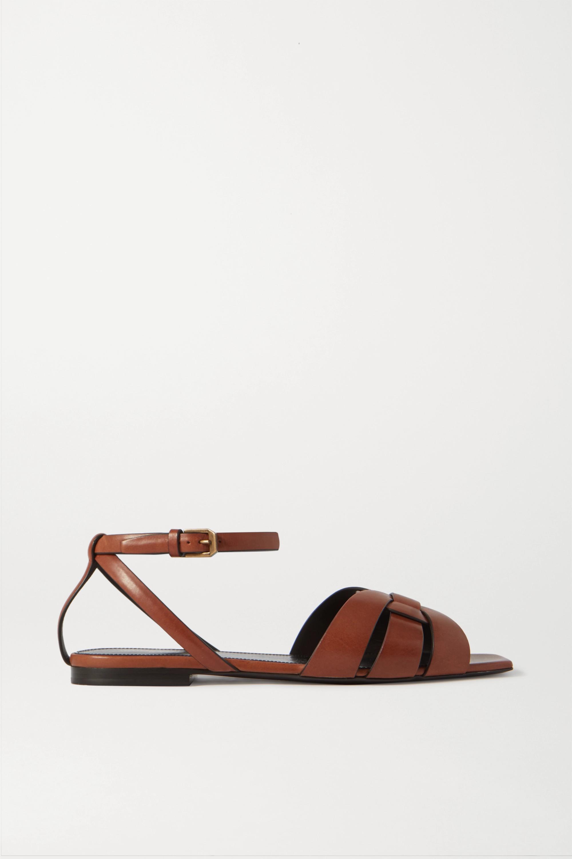 SAINT LAURENT Nu Pieds woven leather sandals