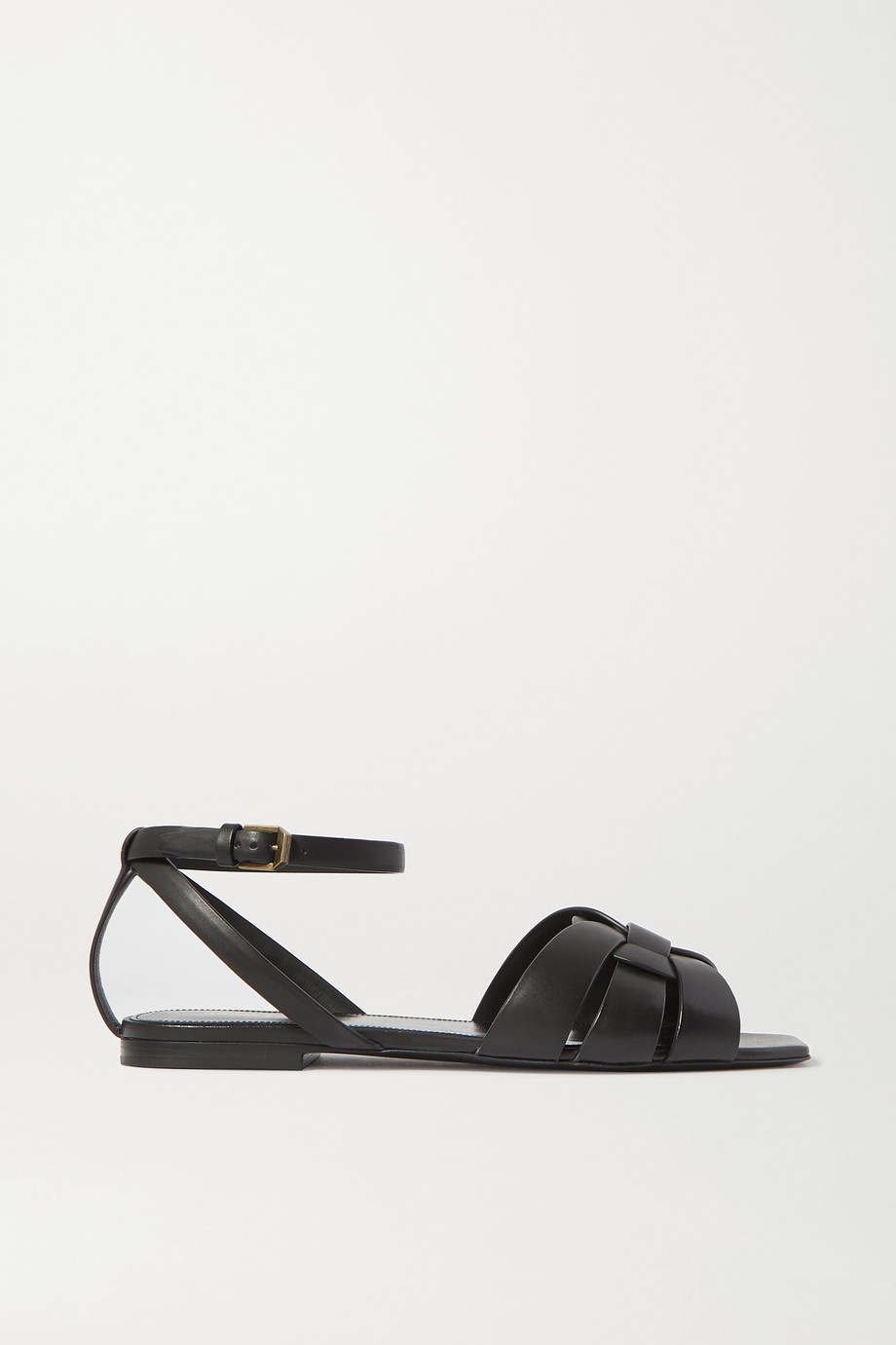 SAINT LAURENT Nu Pieds woven leather sandals