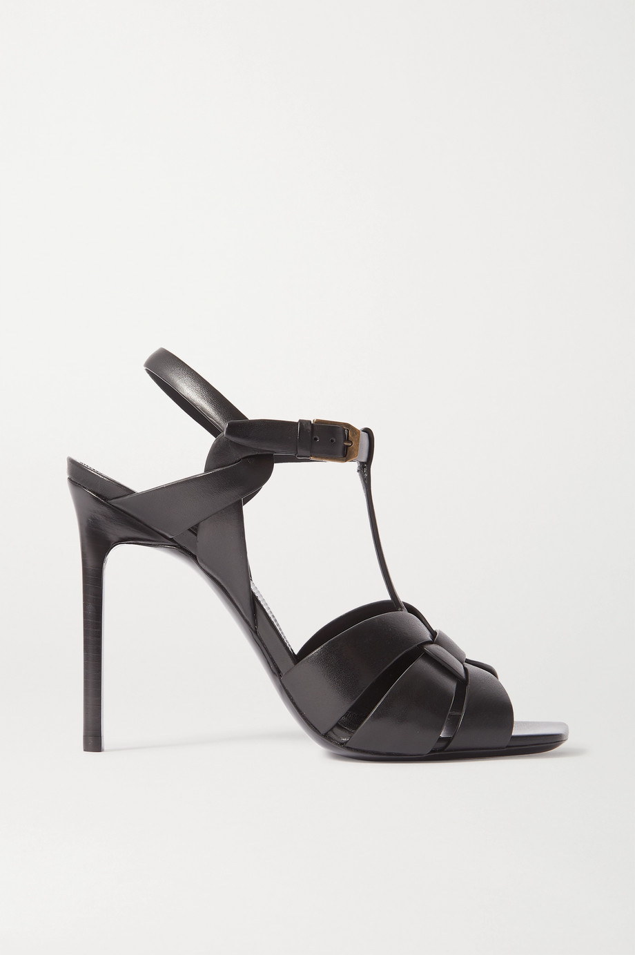 SAINT LAURENT Tribute woven leather sandals