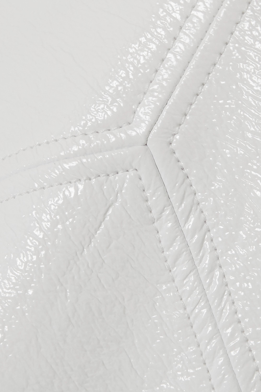 COURREGES Mini-jupe en serge de coton enduite