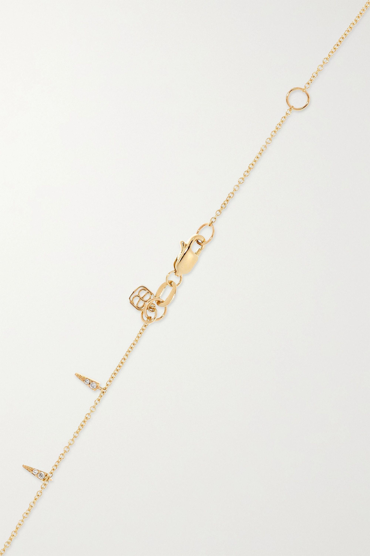 Sydney Evan 14-karat gold diamond anklet