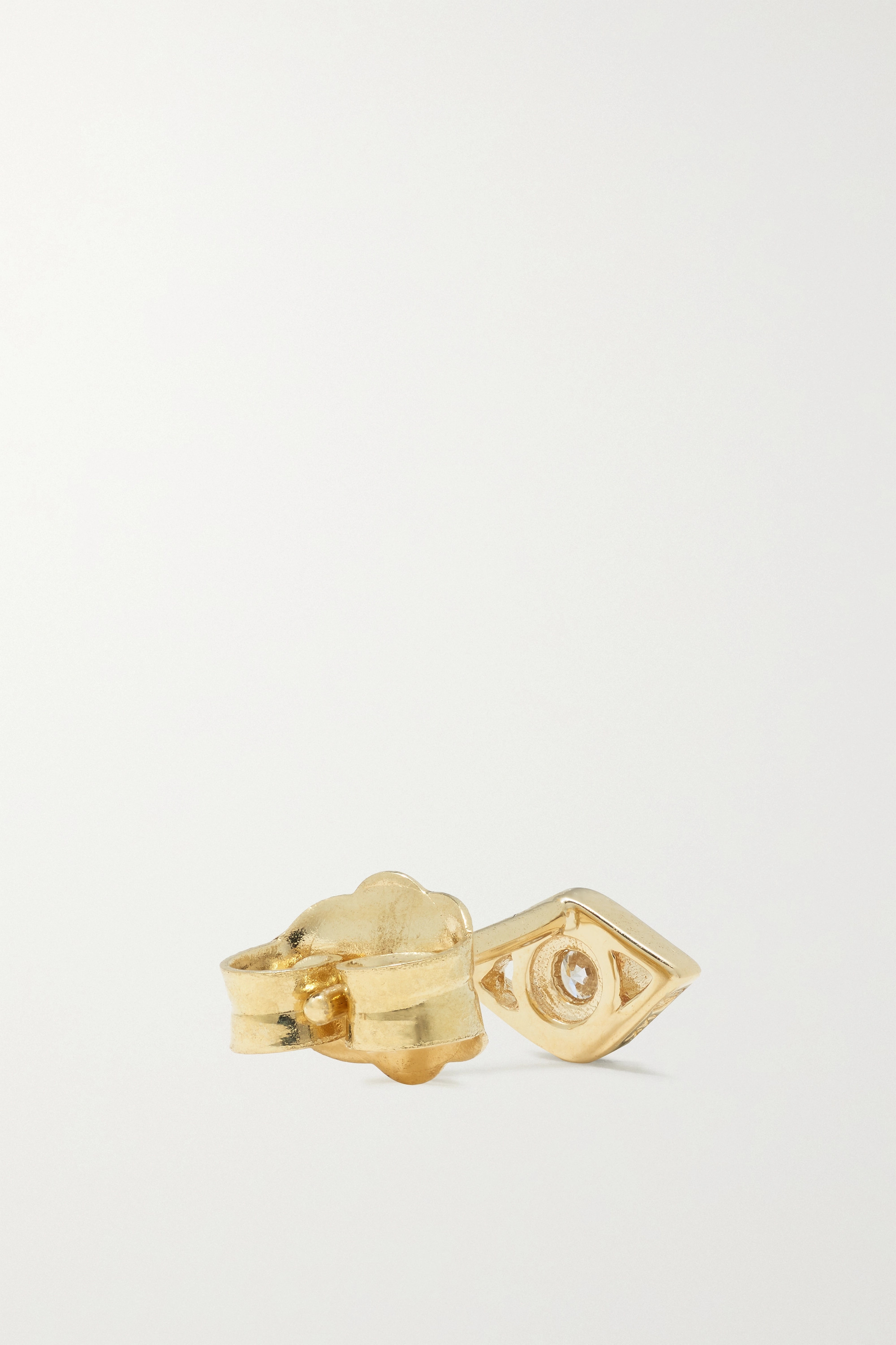 Gold Small Evil Eye 14-karat Diamond Earrings | Sydney Evan