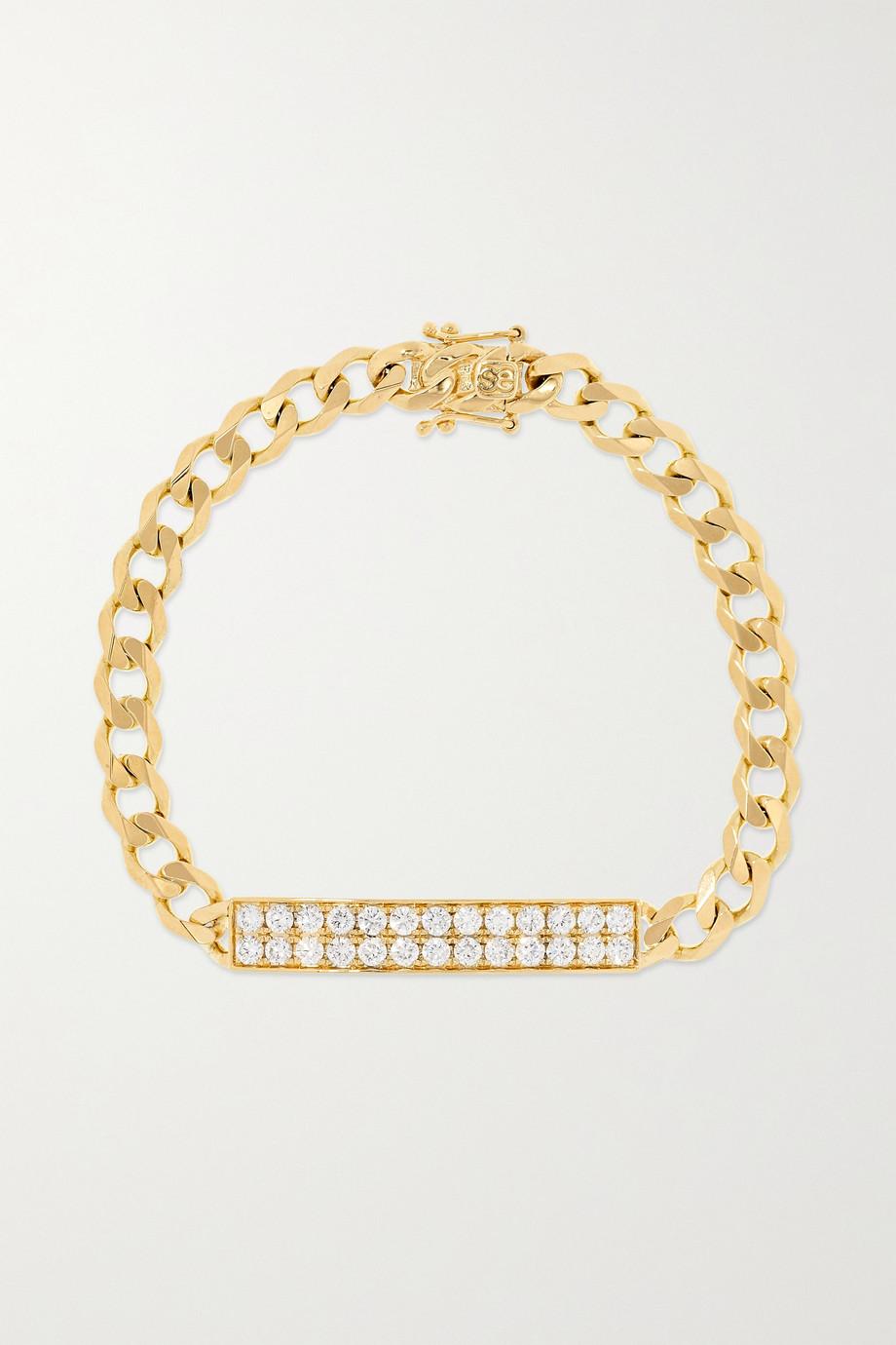 Sydney Evan Bracelet en or 14 carats et diamants ID Bar