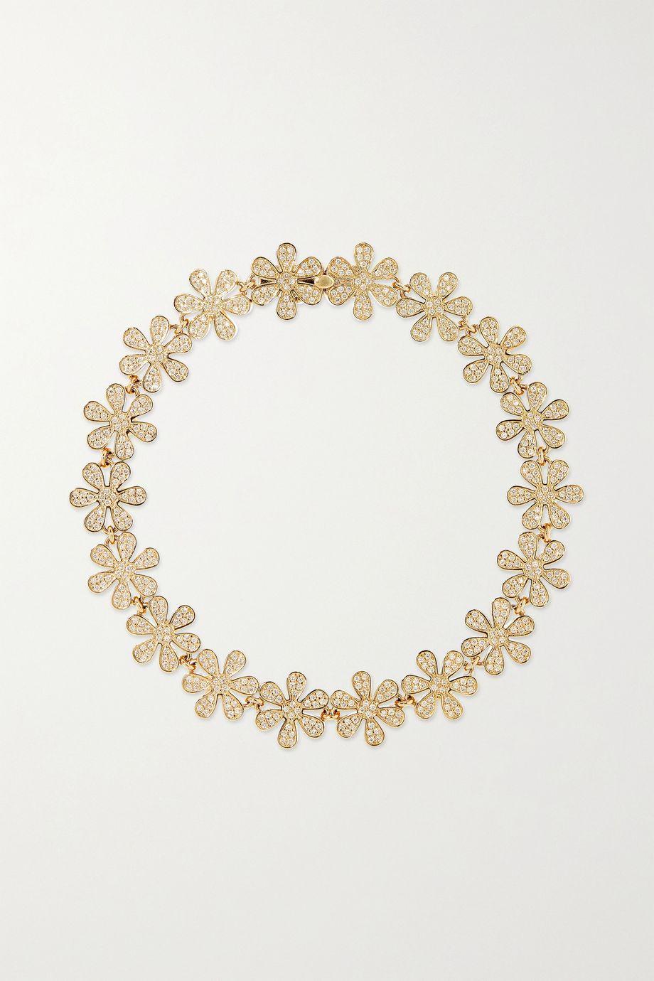 Sydney Evan Bracelet en or 14 carats et diamants Daisy