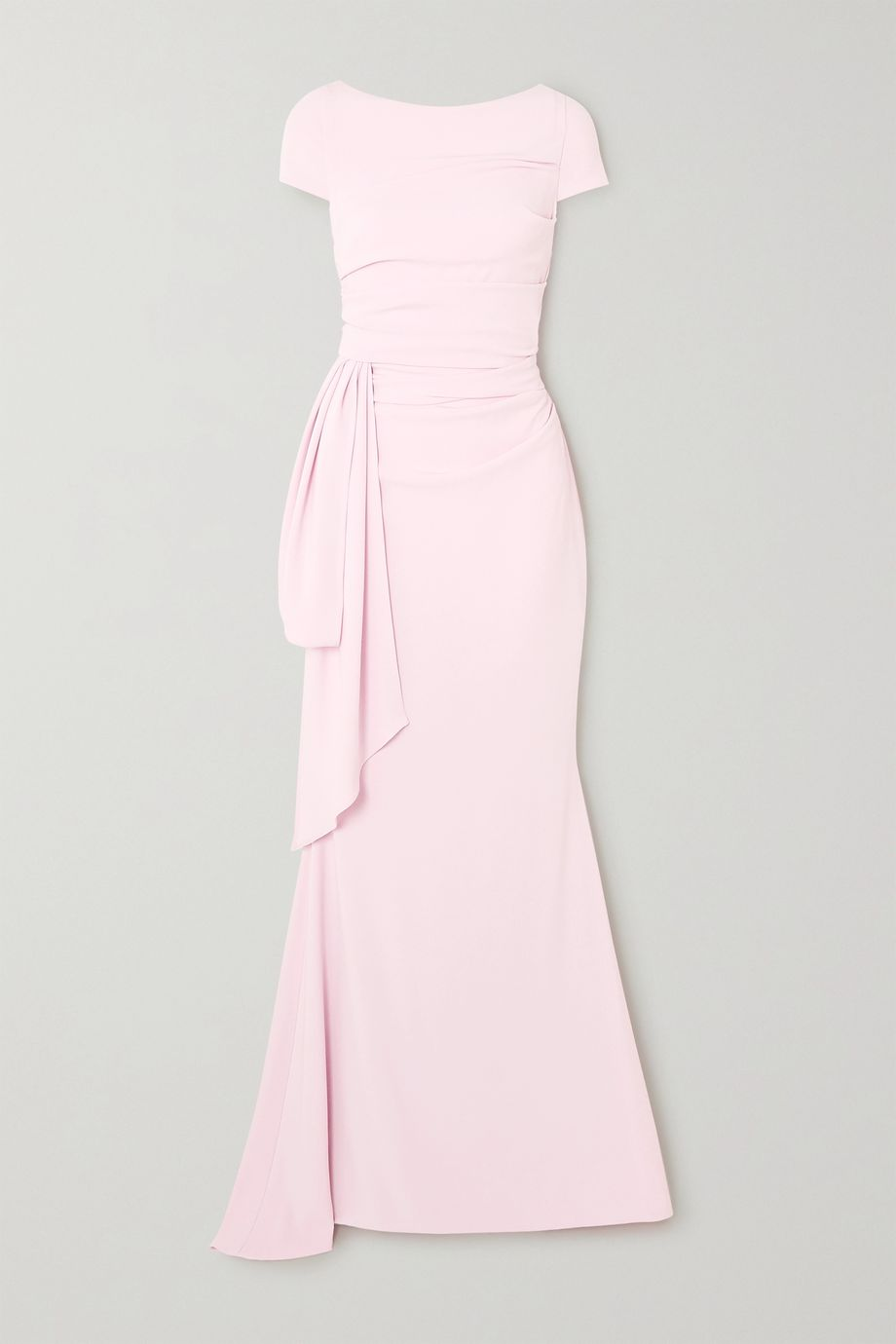 Talbot Runhof Bouvier ruched draped crepe gown