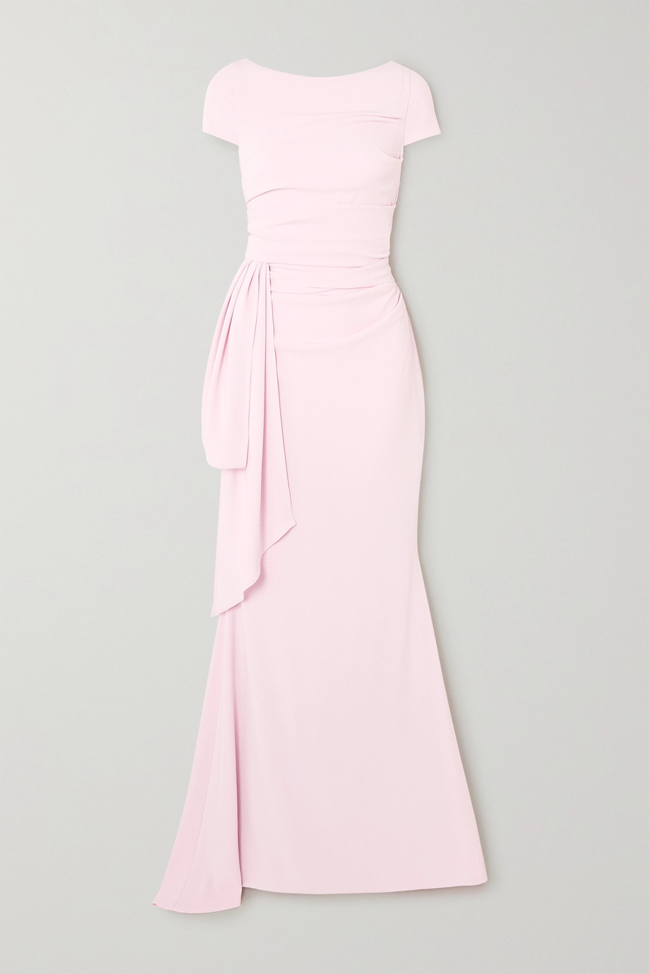 Talbot Runhof | Bouvier ruched draped crepe gown | NET-A-PORTER.COM