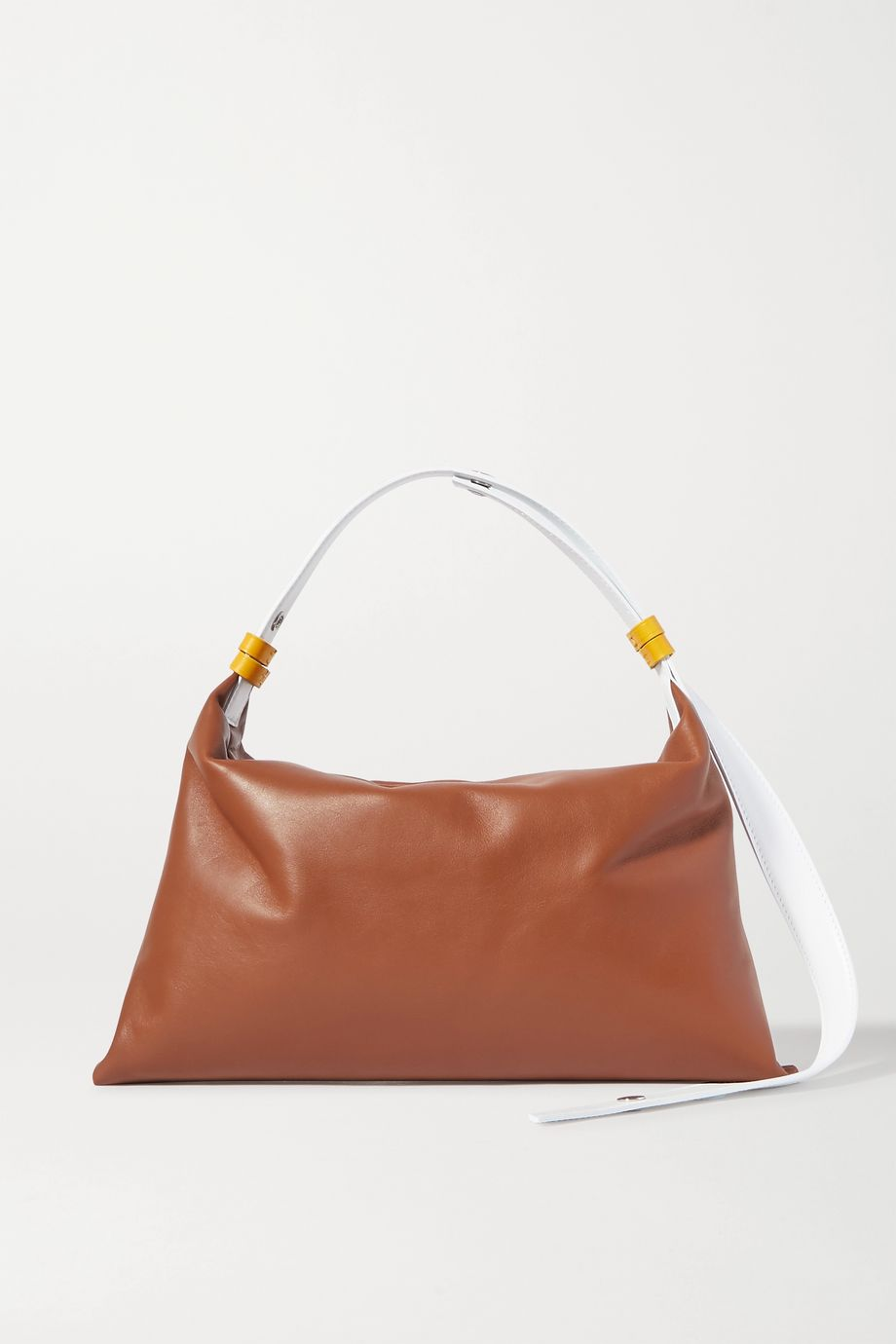 SIMON MILLER Puffin two-tone leather shoulder bag