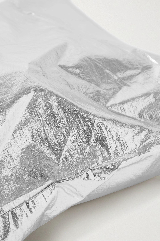 SIMON MILLER Metallic coated-canvas tote