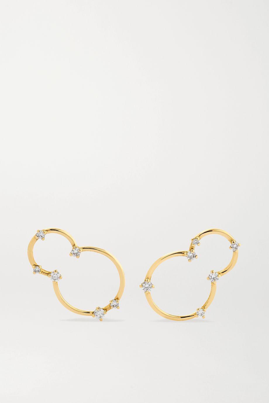 Fernando Jorge Acrobat kleine Ohrringe aus 18 Karat Gold mit Diamanten