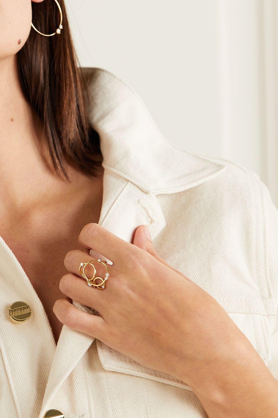 Fernando Jorge Juggler Ring aus 18 Karat Gold mt Diamanten