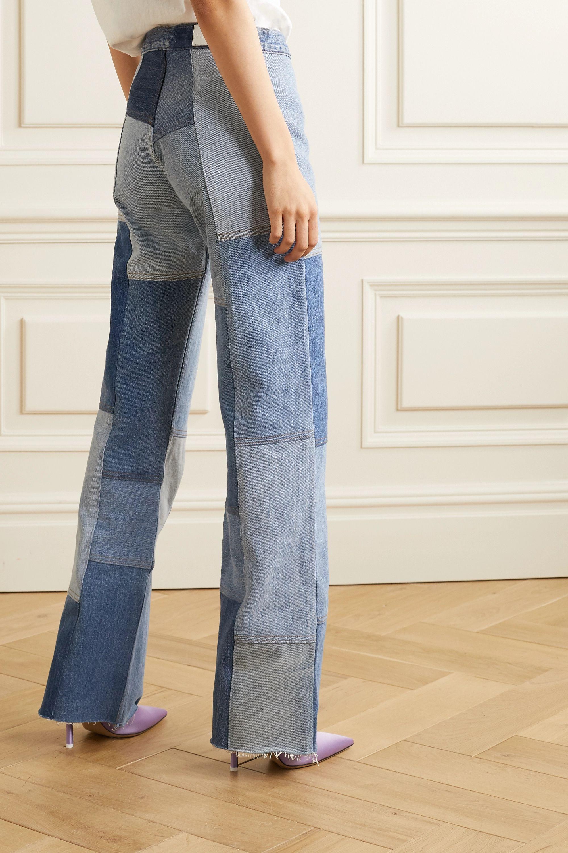 RE/DONE x Amina Muaddi 拼缝高腰喇叭牛仔裤
