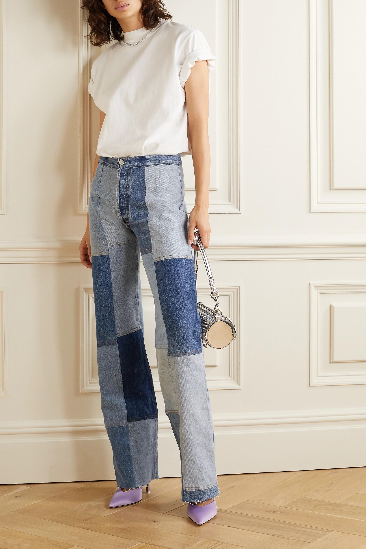 RE/DONE + Amina Muaddi patchwork high-rise flared jeans