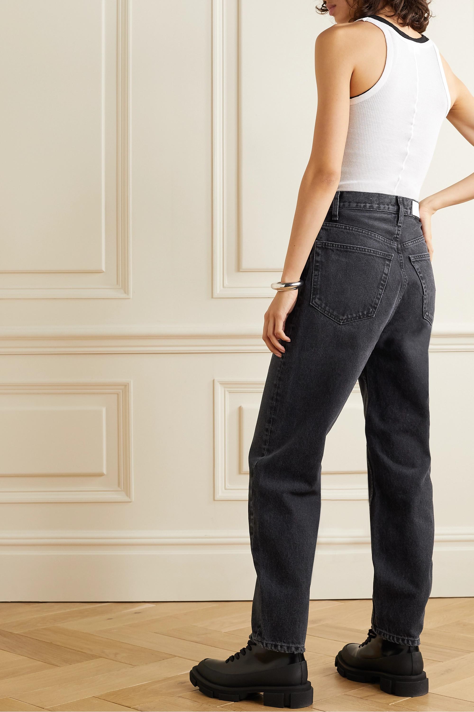 RE/DONE x Pixie Levinson 仿旧高腰锥形牛仔裤