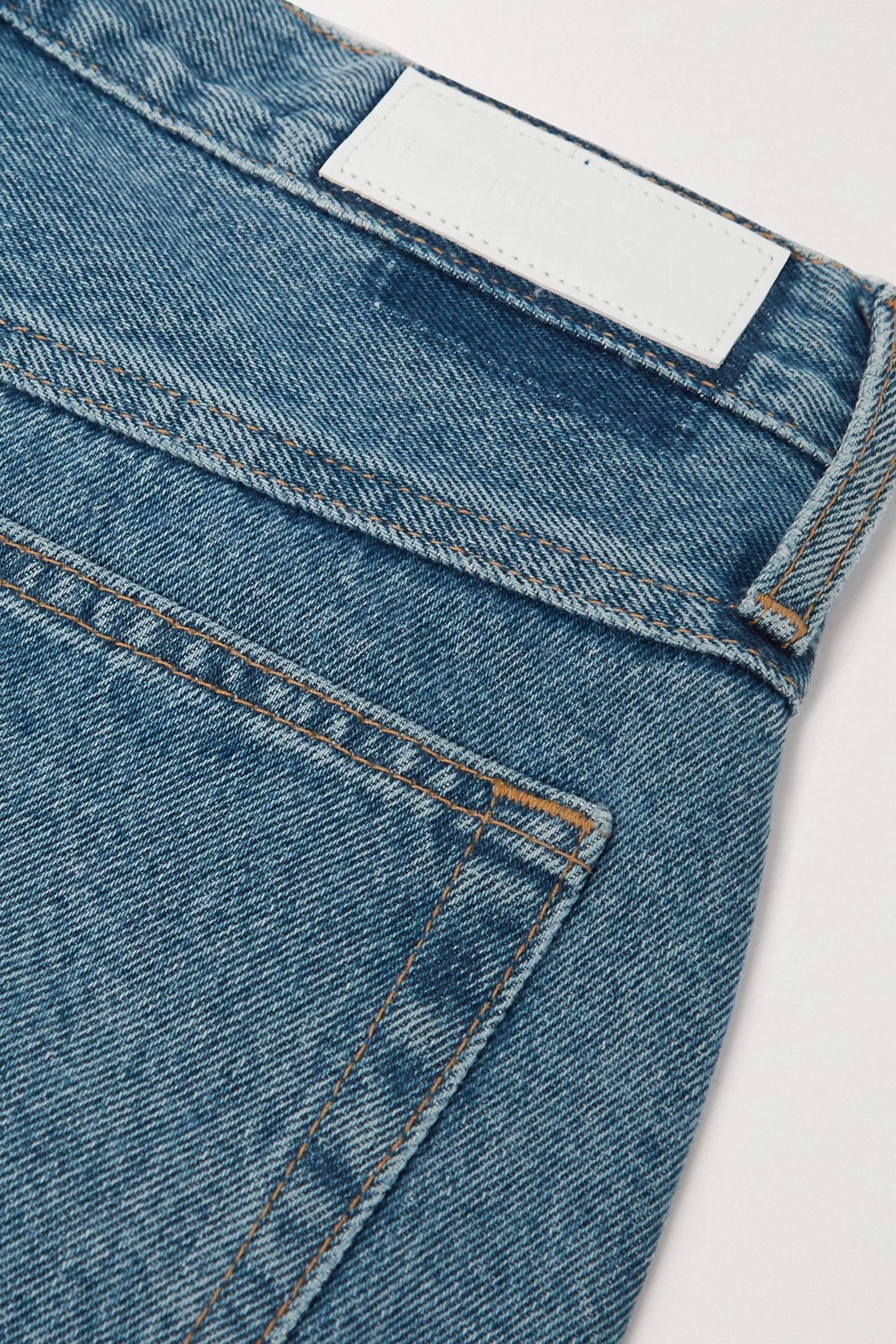 RE/DONE + Savi pleated high-rise tapered jeans