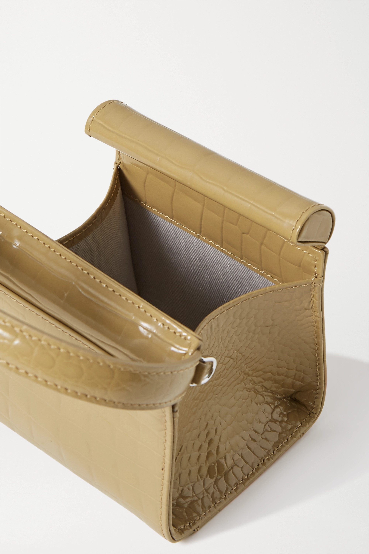 Gu_de Play mini croc-effect leather tote