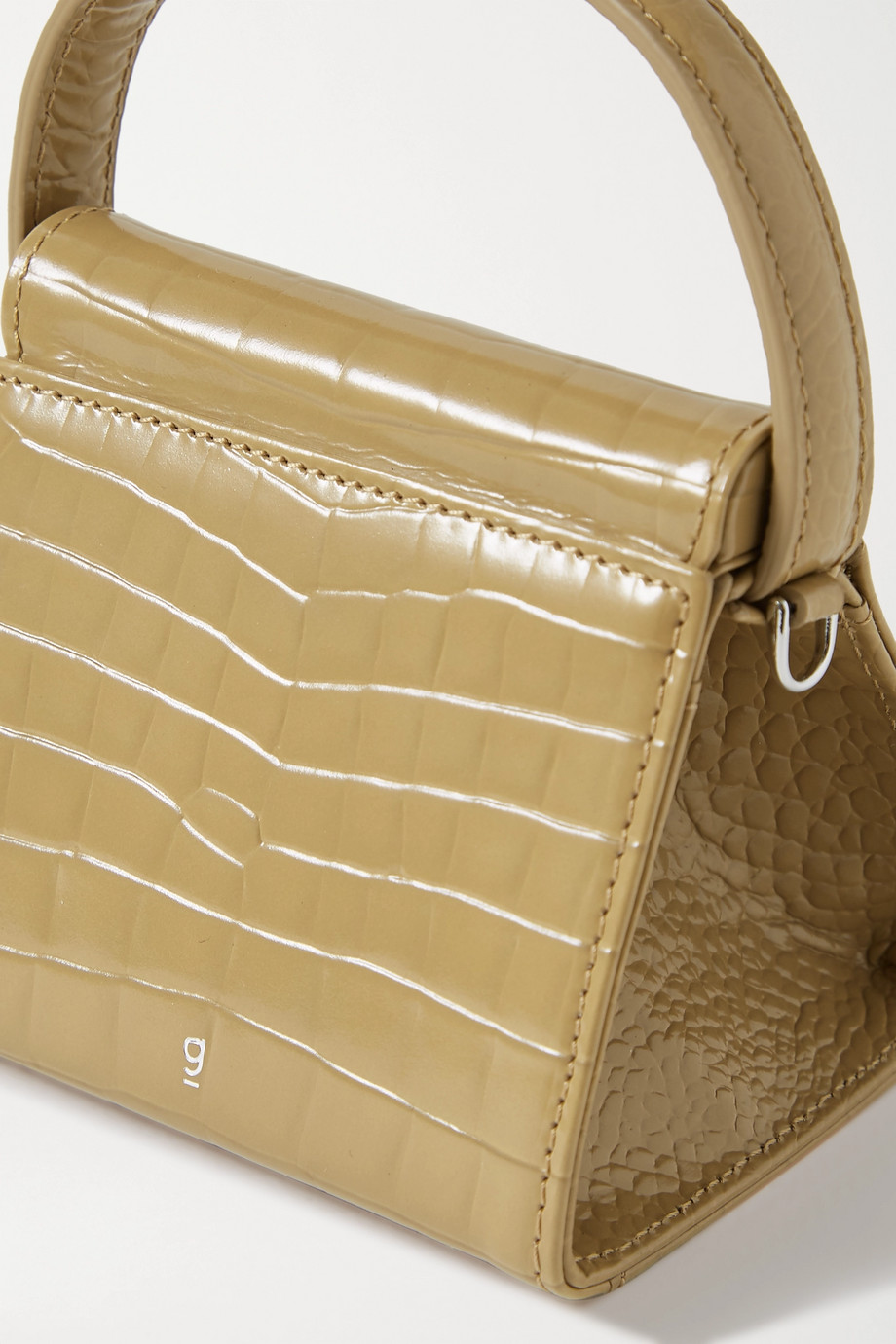 Gu_de Play mini croc-effect leather tote