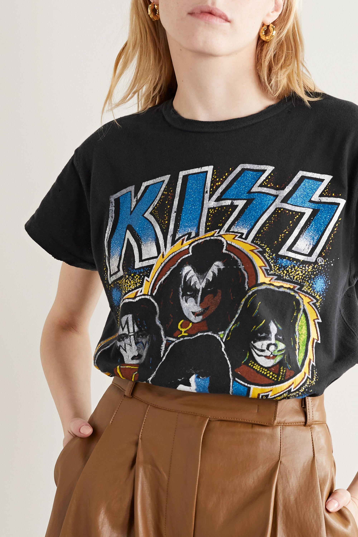 MadeWorn Kiss T-Shirt aus Baumwoll-Jersey mit Print und Distressed-Details