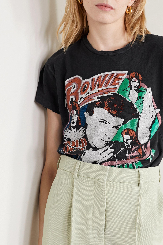 MadeWorn David Bowie 1978 T-Shirt aus Baumwoll-Jersey mit Print in Distressed-Optik