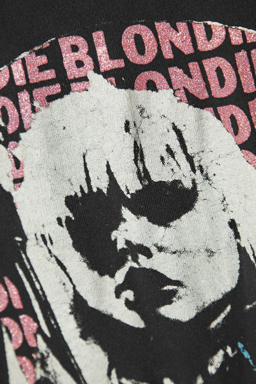 MadeWorn Blondie T-Shirt aus Baumwoll-Jersey in Distressed-Optik mit Print