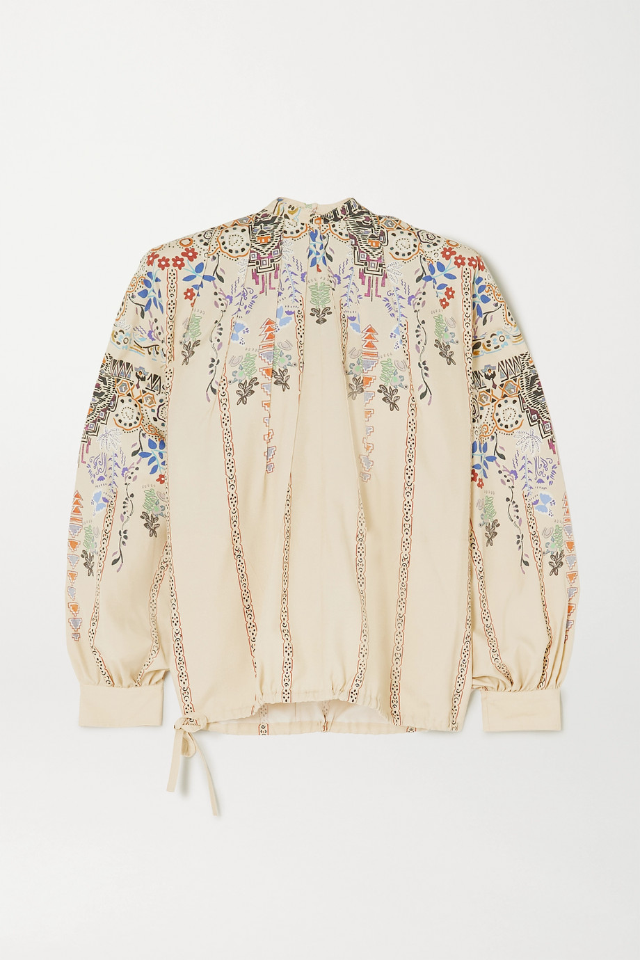 Etro Printed silk crepe de chine blouse