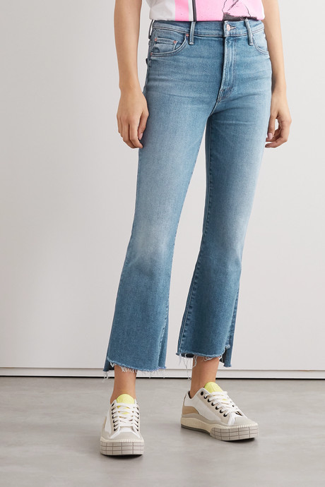 The Insider cropped frayed high-rise flared jeans