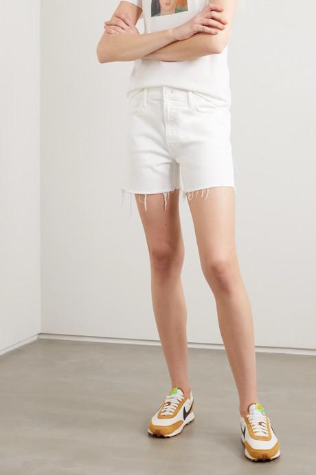 The Sinner frayed denim shorts