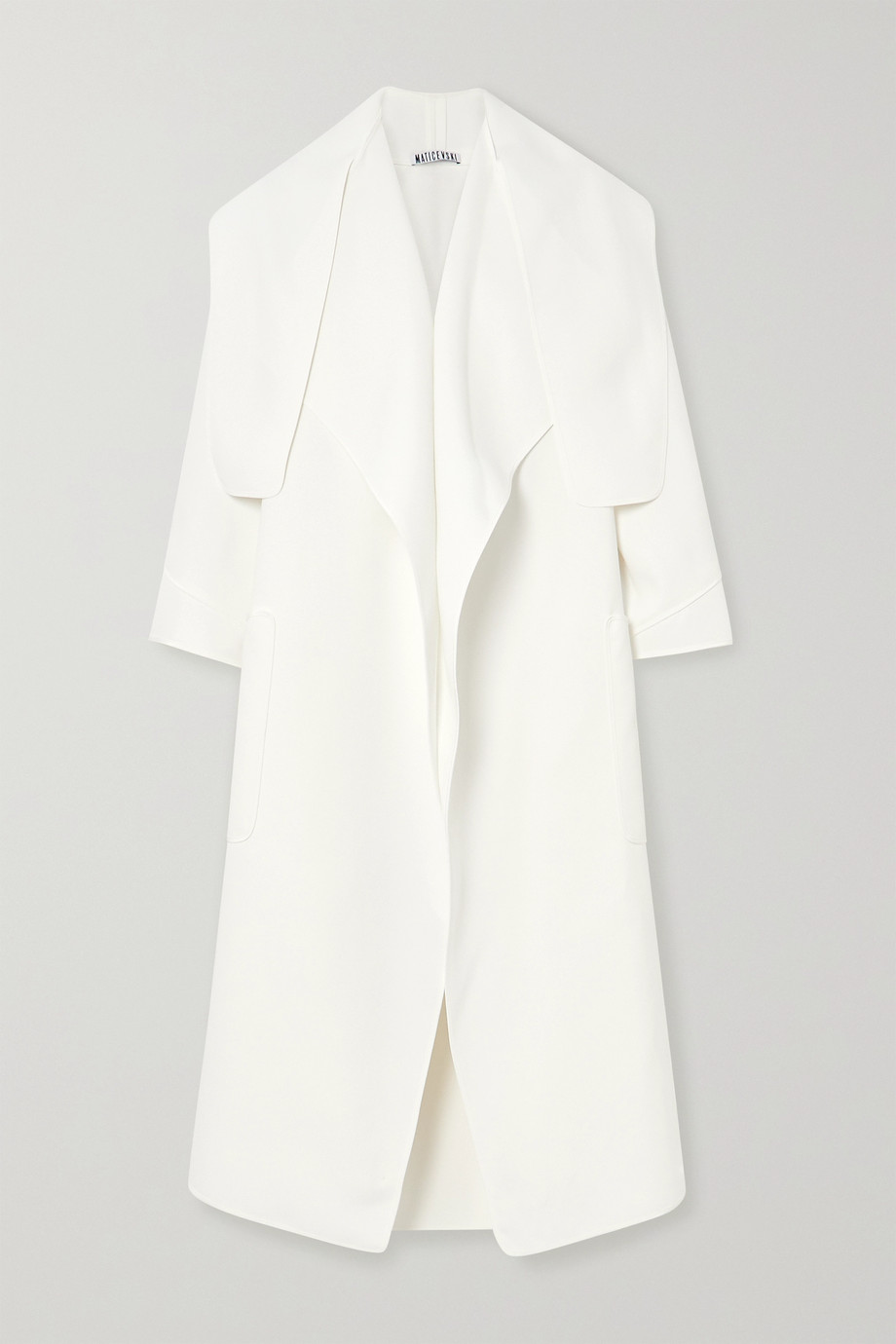 Maticevski Tie-detailed crepe coat