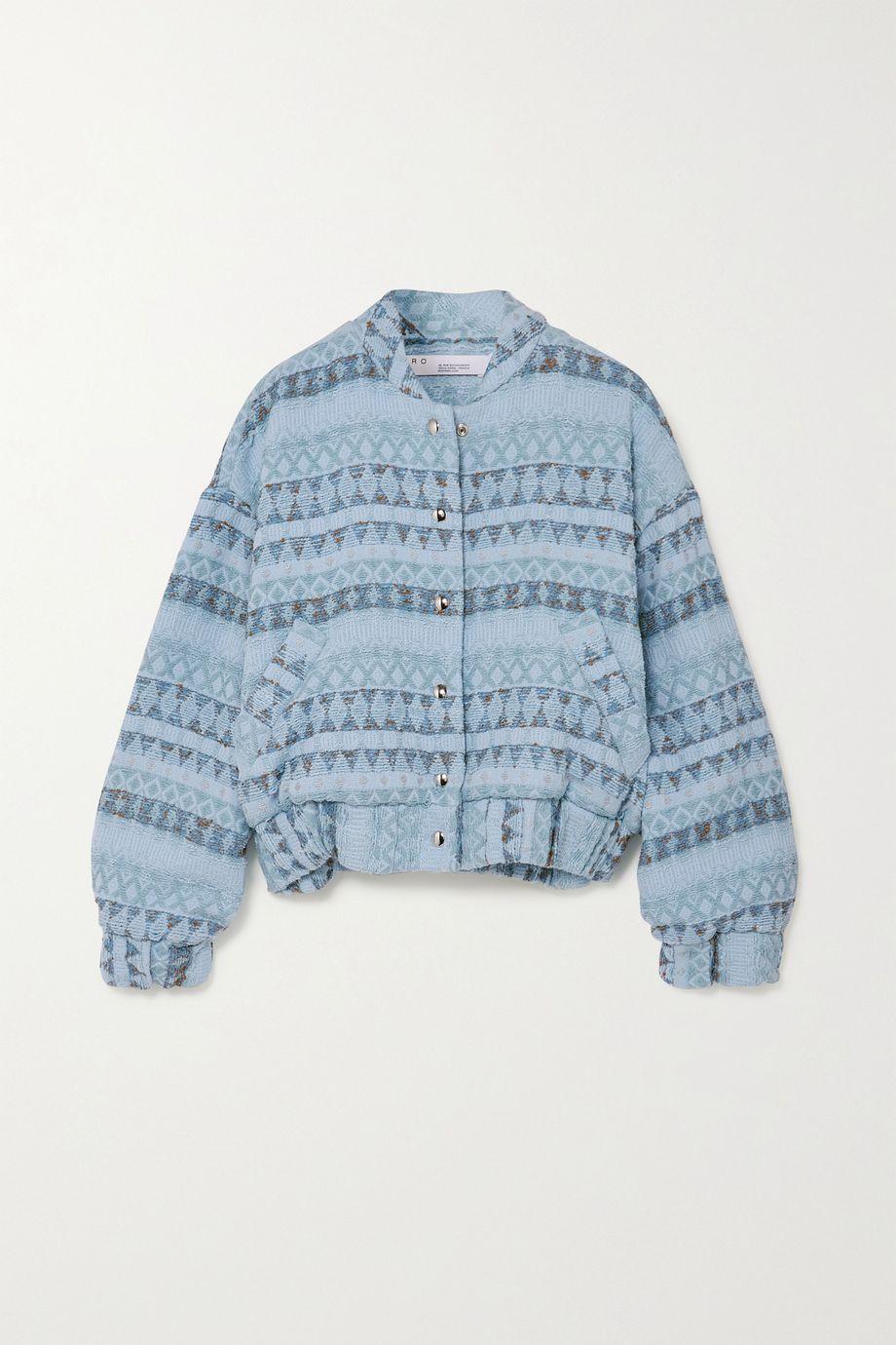 IRO Loupian padded textured cotton-blend bomber jacket