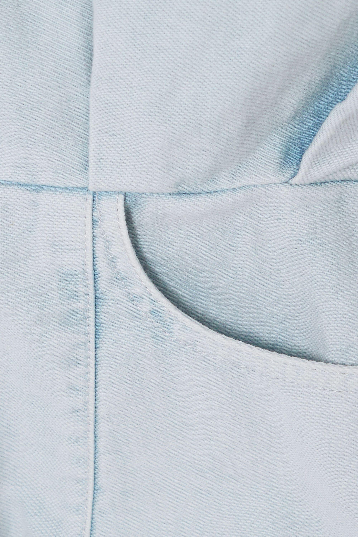 IRO Raffa 牛仔迷你衬衫式连衣裙