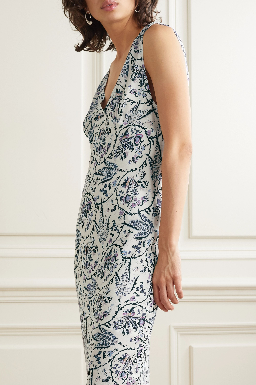 Maya printed crepe maxi dress
