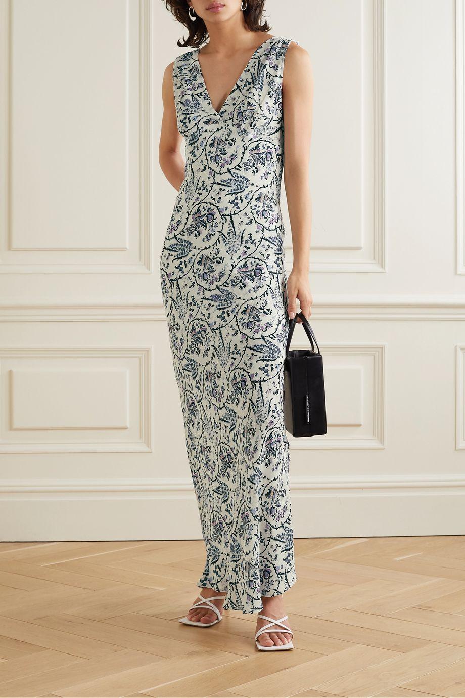 IRO Maya printed crepe maxi dress