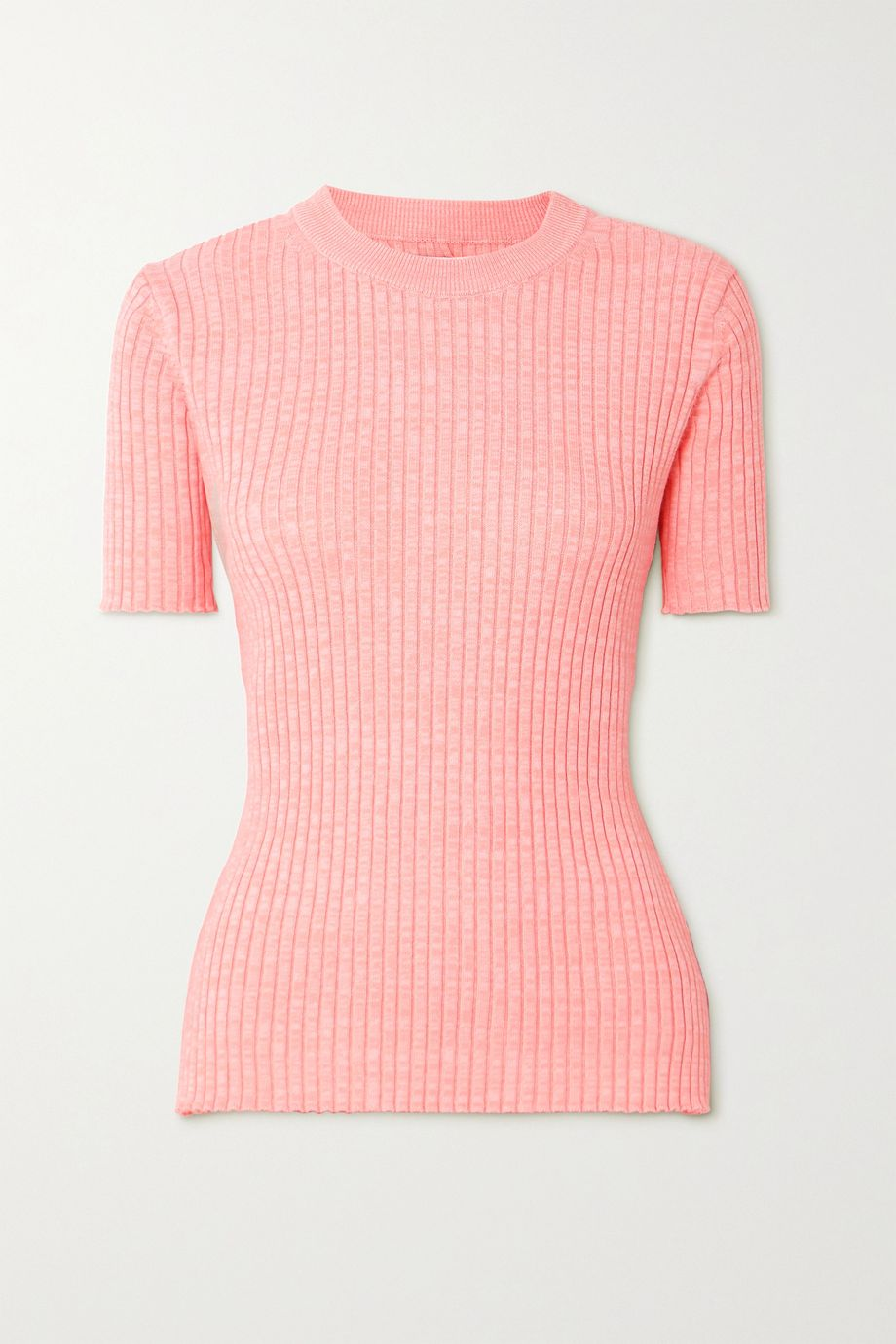ANNA QUAN Bebe ribbed mélange cotton top