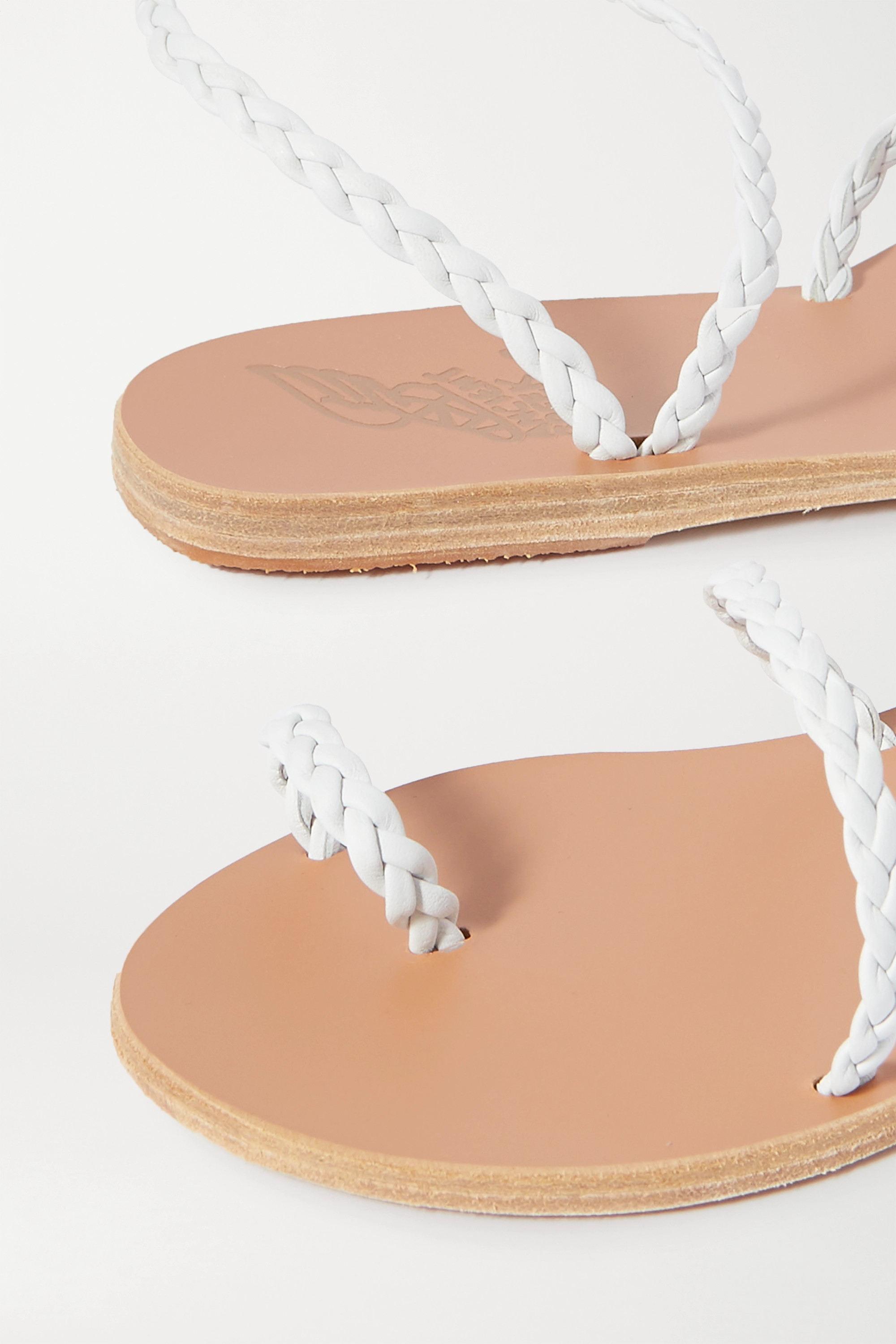 Ancient Greek Sandals Eleftheria braided leather sandals
