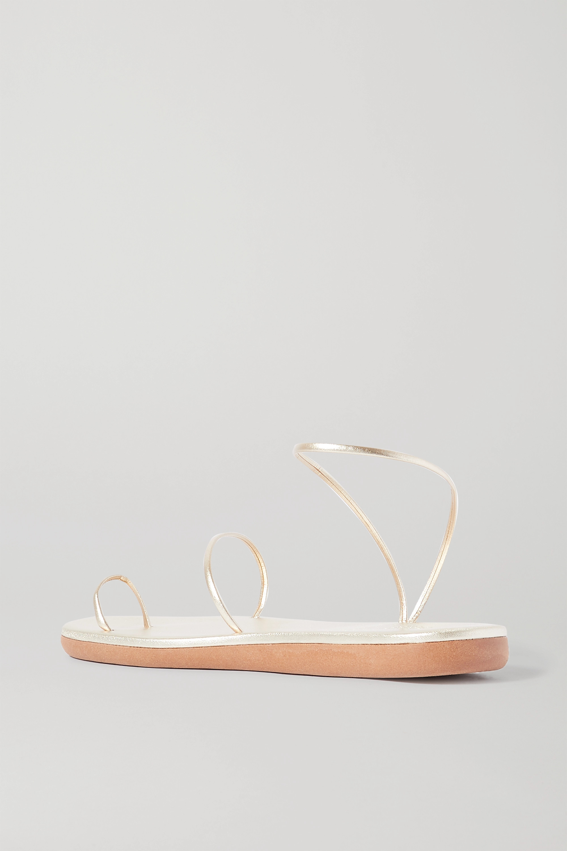 Ancient Greek Sandals Kansiz metallic leather sandals