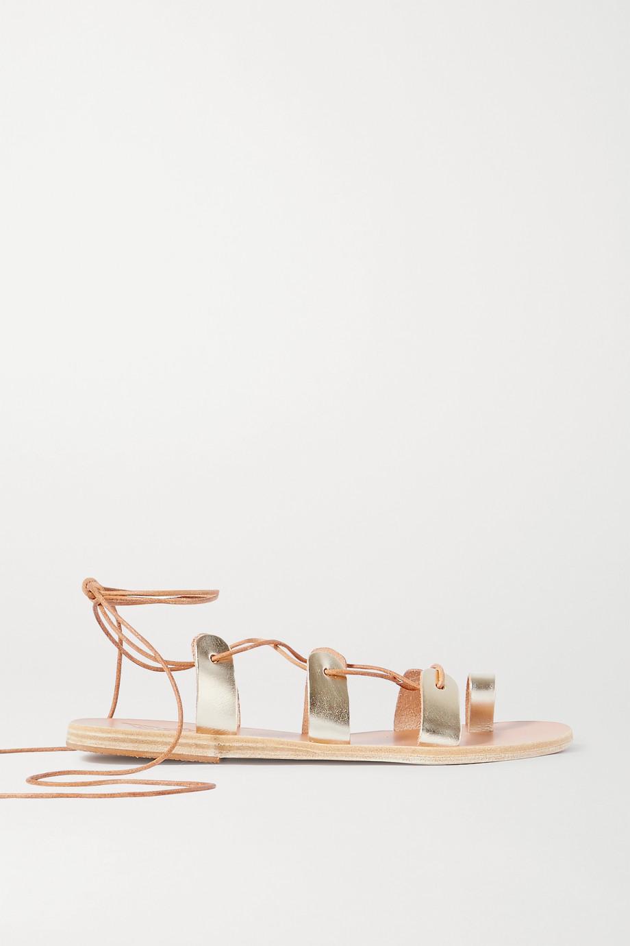 Ancient Greek Sandals Alcyone Sandalen aus Metallic-Leder mit Schnürung