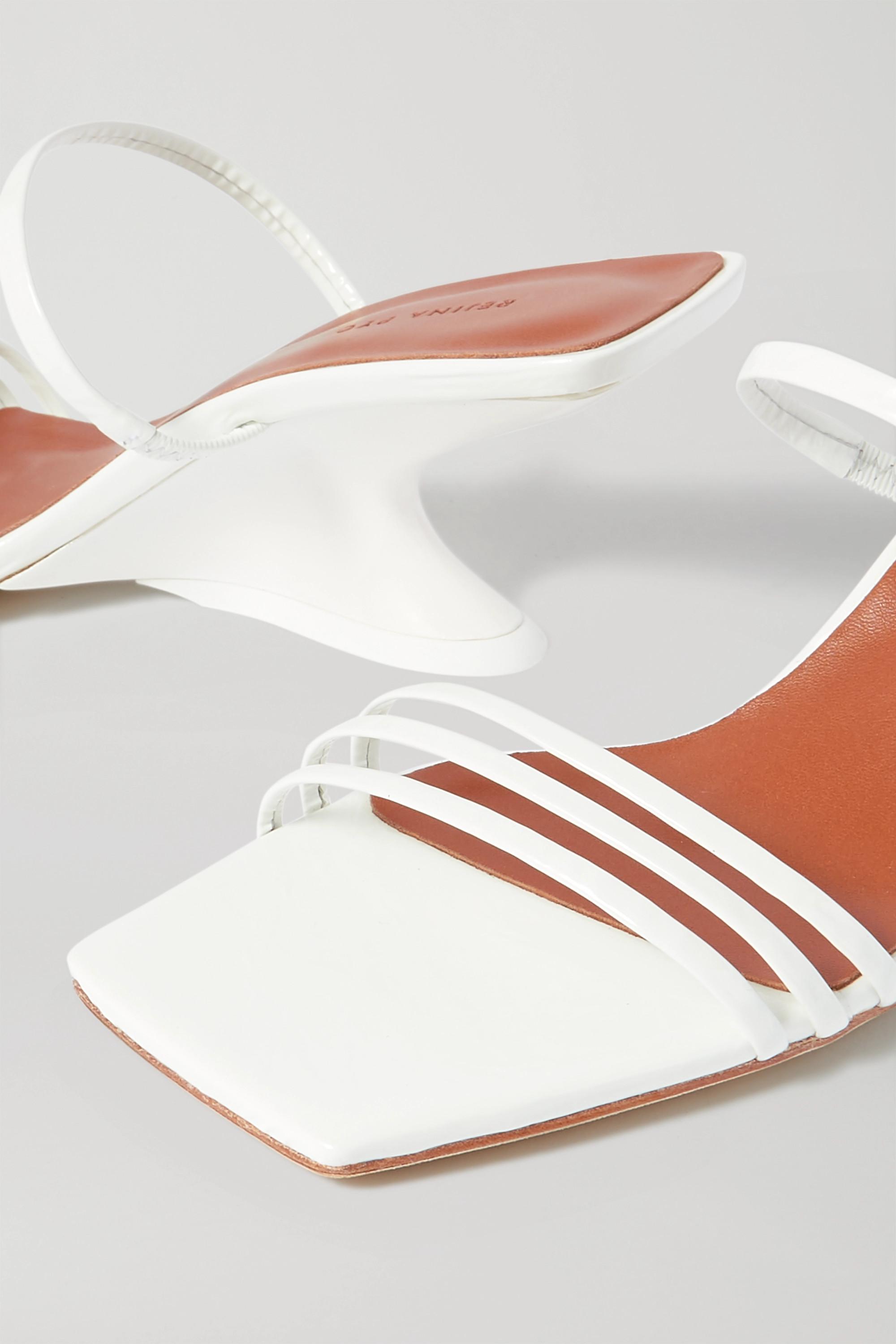 REJINA PYO Romy crinkled patent-leather mules