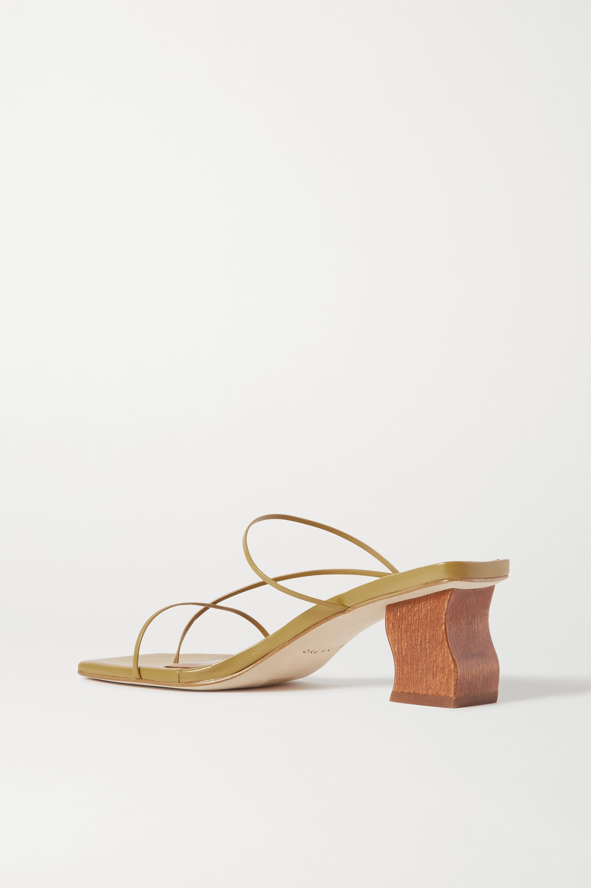 REJINA PYO Wave Harley leather sandals