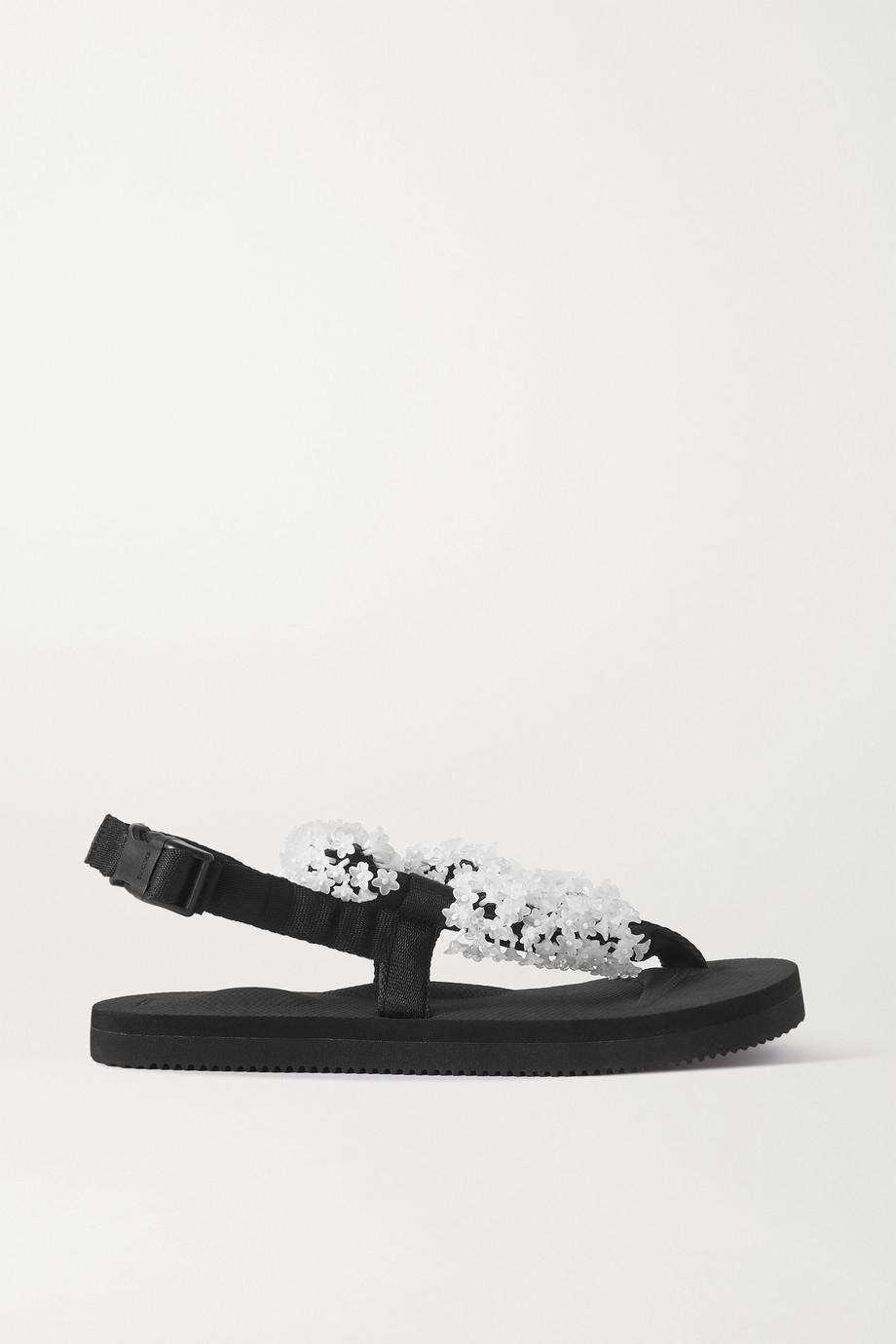 Cecilie Bahnsen + Suicoke Kat embellished canvas sandals