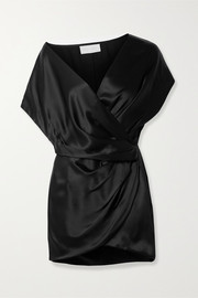 Michelle Mason Draped wrap-effect silk-satin mini dress