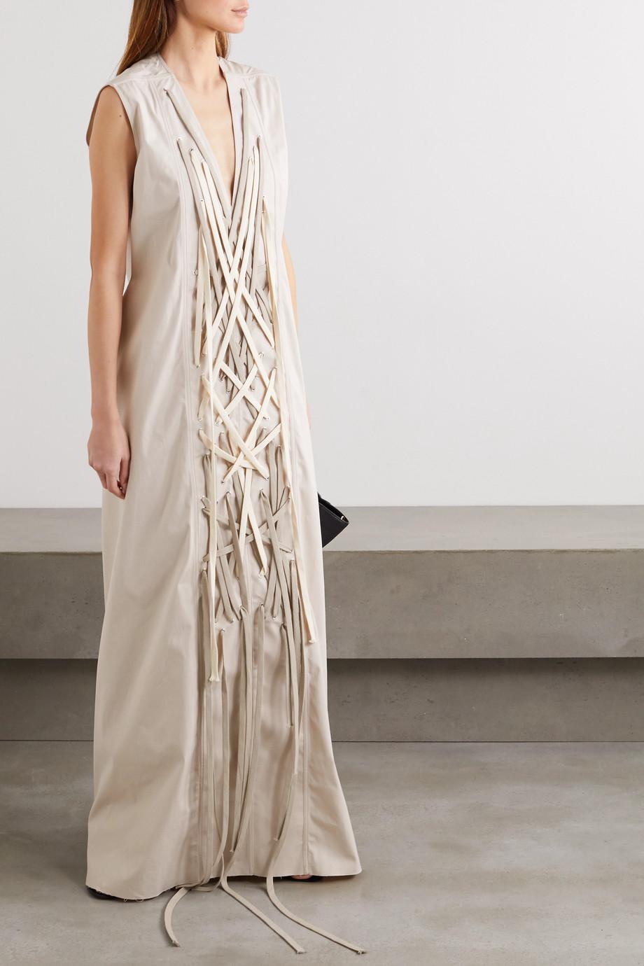 Rick Owens Abito lace-up cotton-blend gown