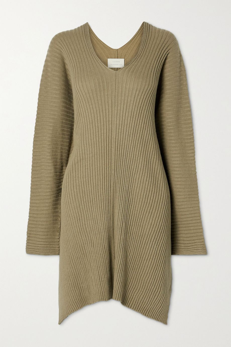 Lauren Manoogian Column oversized ribbed Pima cotton and silk-blend sweater