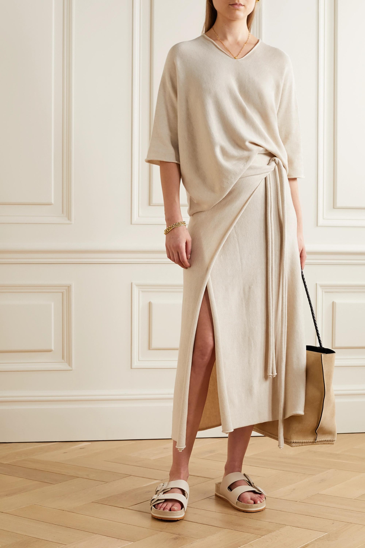 Lauren Manoogian Horizontal Huipil Pima cotton and silk-blend sweater